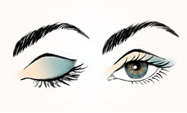 Learn how to accent eyes using eye color and the right brush.